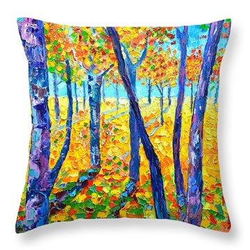 Autumn Colors Throw Pillow by Ana Maria Edulescu