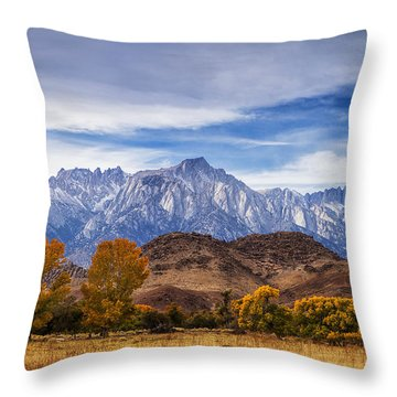 Autumn Colors And Mount Whitney Throw Pillow