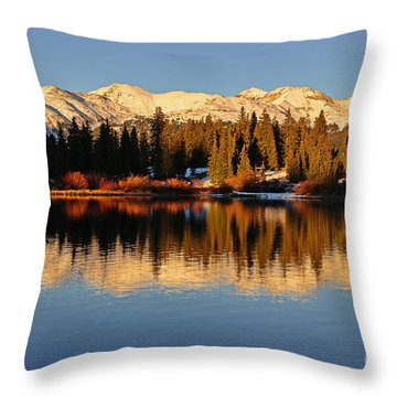 Autumn Colors At Molas Throw Pillow