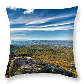 Autumn Colors In The Blue Ridge Mountains Throw Pillow