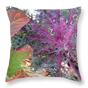 Autumn Colors Throw Pillow by Marlene Rose Besso