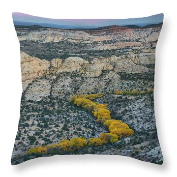 Highway 12 Throw Pillows