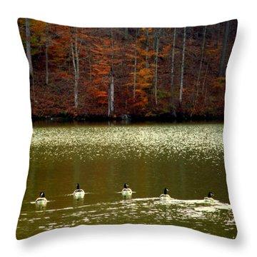 Autumn Cove Throw Pillow by Karen Wiles