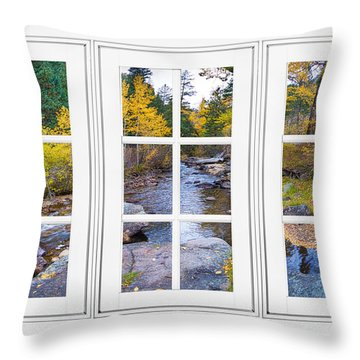 Autumn Creek White Picture Window Frame View Throw Pillow by James BO  Insogna