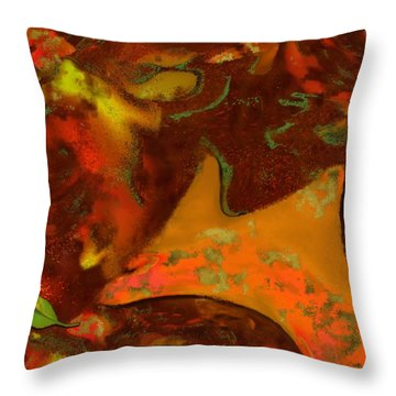 Autumn Crown Throw Pillow by Mathilde Vhargon