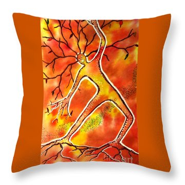 Autumn Dancing Throw Pillow by Leanne Seymour