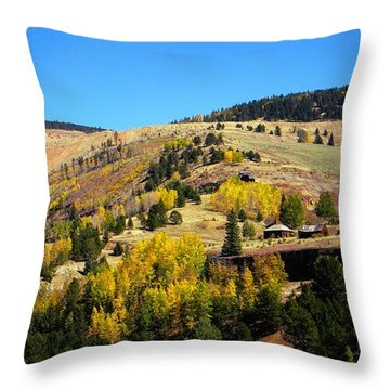 Autumn Day In Cripple Creek Throw Pillow