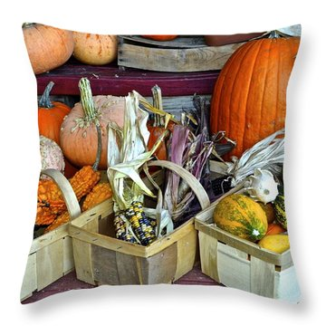 Autumn Display Throw Pillow by Frozen in Time Fine Art Photography
