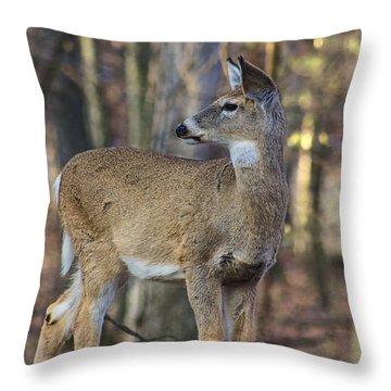 Autumn Doe Throw Pillow