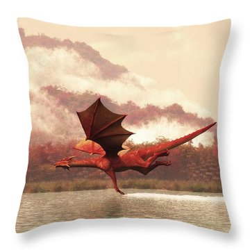 Autumn Dragons Throw Pillow