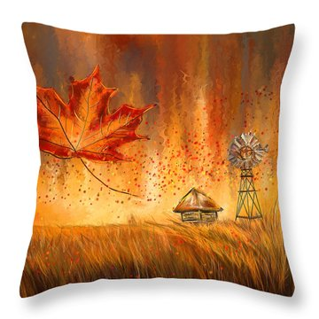 Autumn Dreams- Autumn Impressionism Paintings Throw Pillow