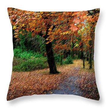 Autumn Entrance To Muckross House Killarney Throw Pillow