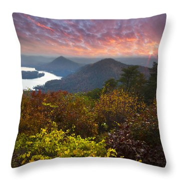 Autumn Evening Star Throw Pillow by Debra and Dave Vanderlaan