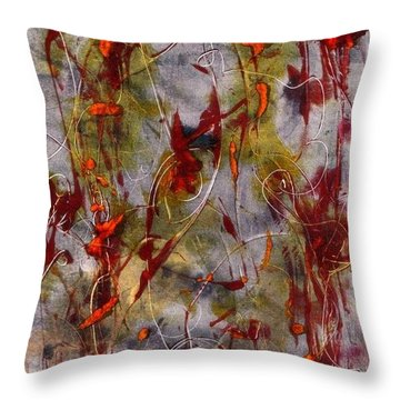 Autumn Faeries Throw Pillow by Lesley Fletcher