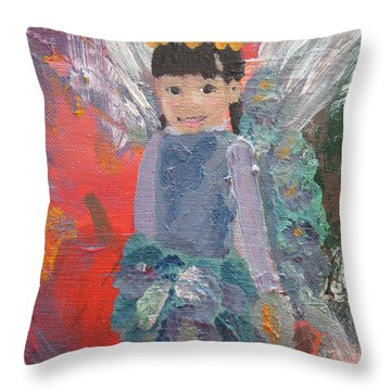 Autumn Fairy Throw Pillow