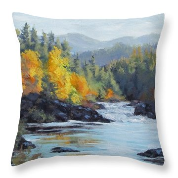 Autumn Falls Throw Pillow by Karen Ilari