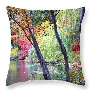 Autumn Fantasy Throw Pillow by Dora Sofia Caputo Photographic Art and Design