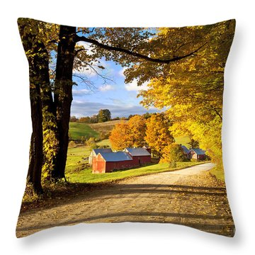 Autumn Farm In Vermont Throw Pillow