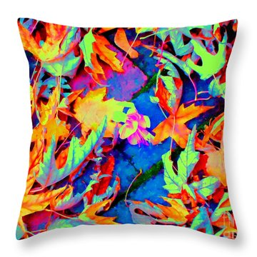 Autumn Fiesta Throw Pillow by Ann Johndro-Collins