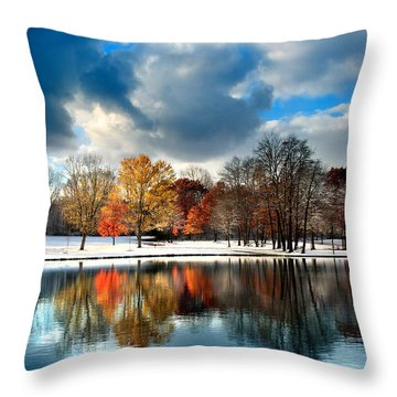 Autumn Finale Throw Pillow