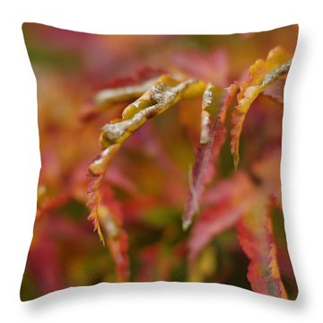Autumn Fingers Throw Pillow