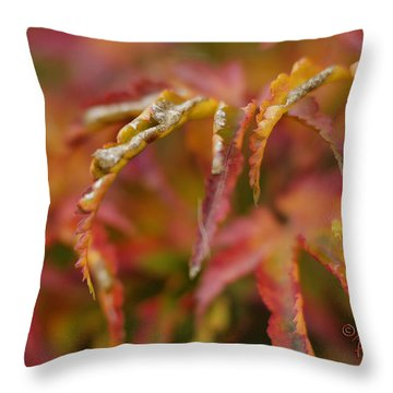 Autumn Fingers Throw Pillow by Arthur Fix