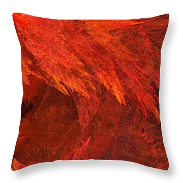 Autumn Fire Pano 2 Vertical Throw Pillow by Andee Design