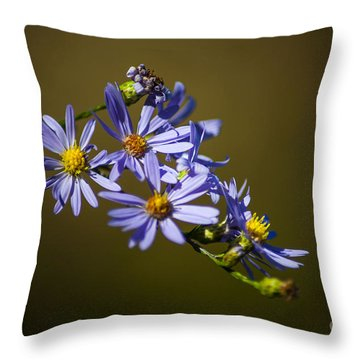 Autumn Floral Throw Pillow
