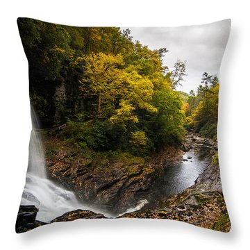 Autumn Flow Throw Pillow by Serge Skiba
