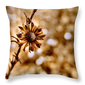 Autumn Flower Throw Pillow