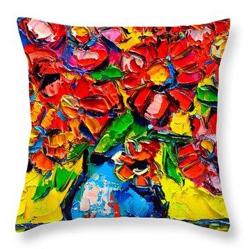 Autumn Flowers 7 Throw Pillow by Ana Maria Edulescu