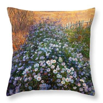 Autumn Flowers Throw Pillow