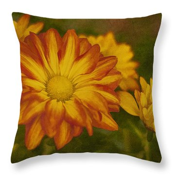 Autumn Flowers Throw Pillow by Ivelina G