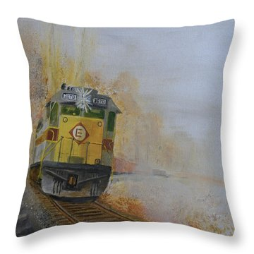 Autumn Fog Throw Pillow by Christopher Jenkins