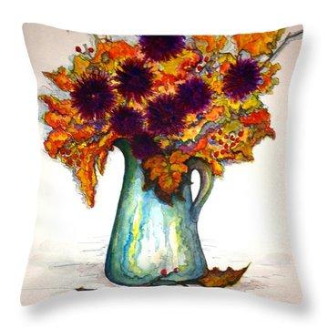 Autumn Foilage Throw Pillow