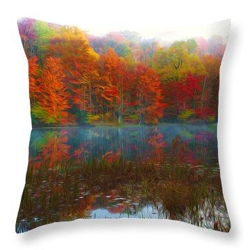 Autumn Foliage Throw Pillow by Lanjee Chee