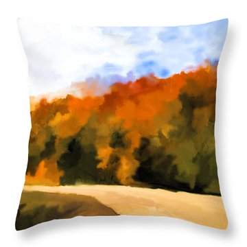 Autumn Fringe Throw Pillow by Jo-Anne Gazo-McKim