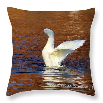 Autumn Upon The Water Throw Pillow by Cheryl Poland