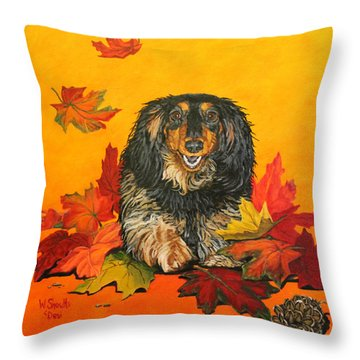 Autumn Fun Throw Pillow by Wendy Shoults