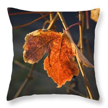 Autumn Grape Leaf Throw Pillow