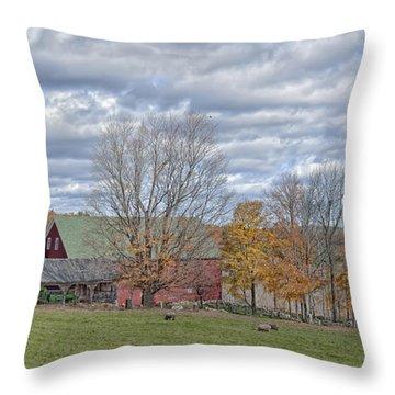 Autumn Grazing Throw Pillow by Richard Bean