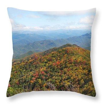 Autumn Great Smoky Mountains Throw Pillow by Melinda Fawver
