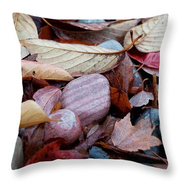 Autumn Greatness Throw Pillow by Gwyn Newcombe
