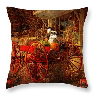 Autumn Harvest At Brewster General Throw Pillow