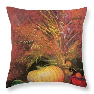 Autumn Harvest Throw Pillow by Claire Spencer