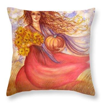 Autumn Harvest Throw Pillow by Sheri Lauren Schmidt