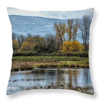 Throw Pillow featuring the photograph Autumn Haven by Belinda Greb