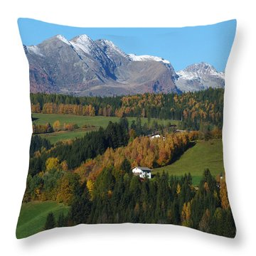 Throw Pillow featuring the photograph  Austrian Autumn by Phil Banks