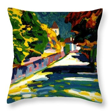 Autumn In Bavaria Throw Pillow by Wassily Kandinsky