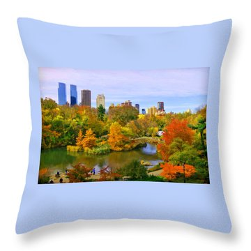 Autumn In Central Park 4 Throw Pillow